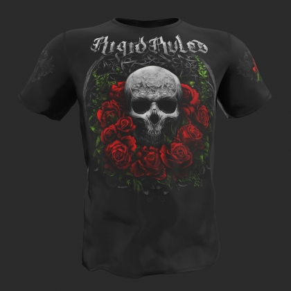 T-Shirt Rose Skull - Rigid Rules # RigidRules.com - t-shirts, clothes, hoodies, leggins