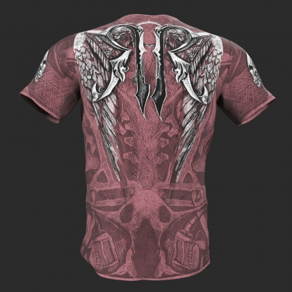 "T-shirt ""MECHANICAL SKULL""-pink # RigidRules.com - t-shirts, clothes, hoodies, leggins"