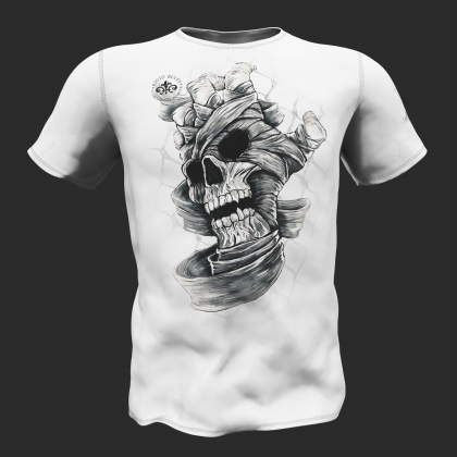 T-Shirt Skull Hand - Rigid Rules # RigidRules.com - t-shirts, clothes, hoodies, leggins
